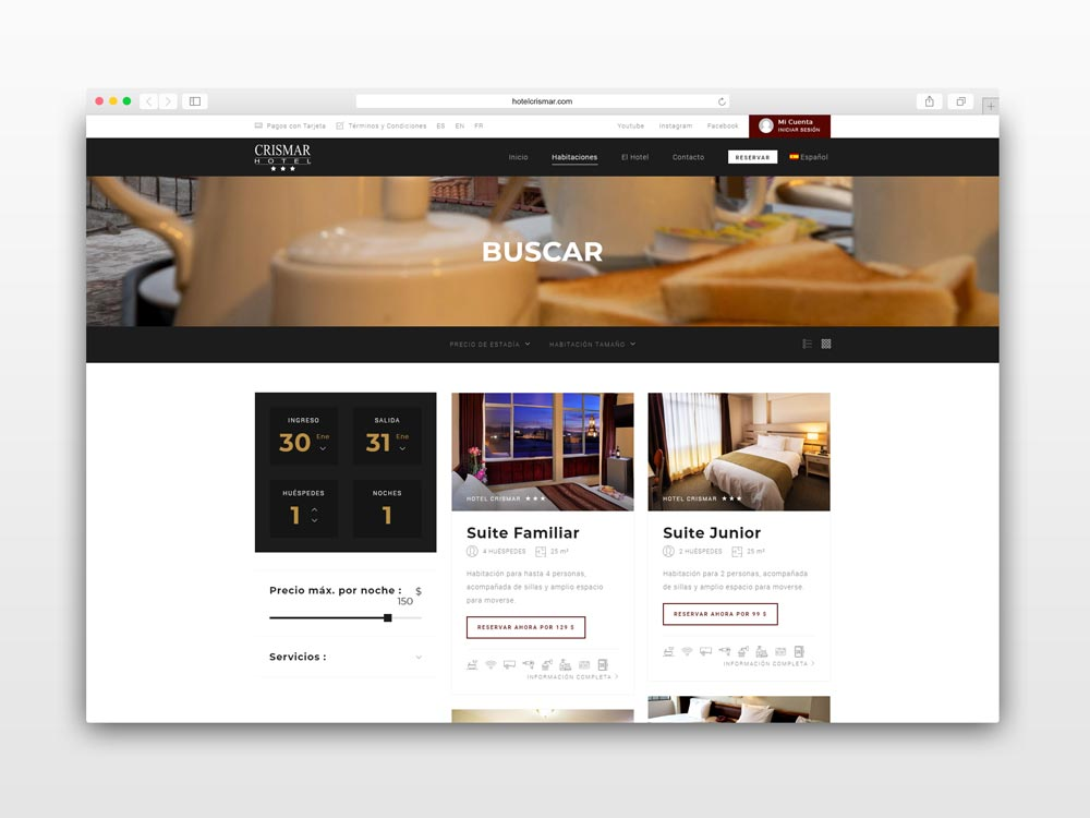 pagina-web-crismar-hotel-by-ximahotels